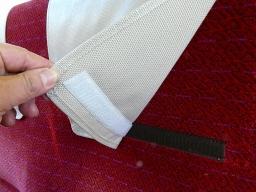キハ127-2の二人がけ座席の枕カバー