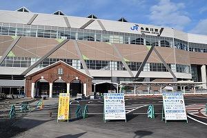 糸魚川駅アルプス口とキハ52 156